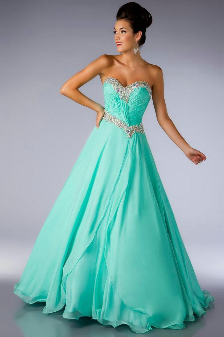 pretty! | Mostly Just Dresses... | Pinterest | Flow, Prom and Aqua