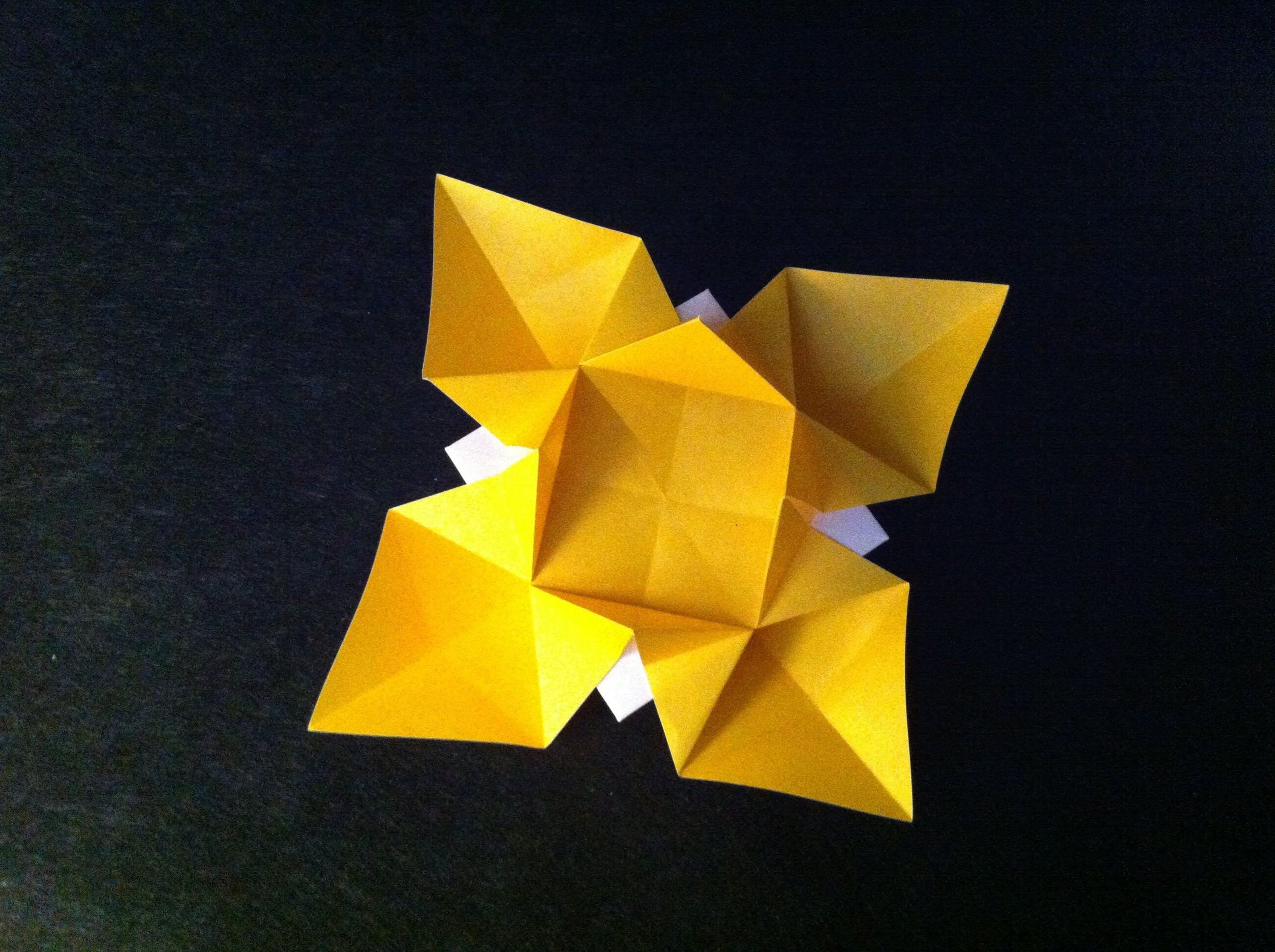 Origami Flower Easy For Children Instructions Tutorial