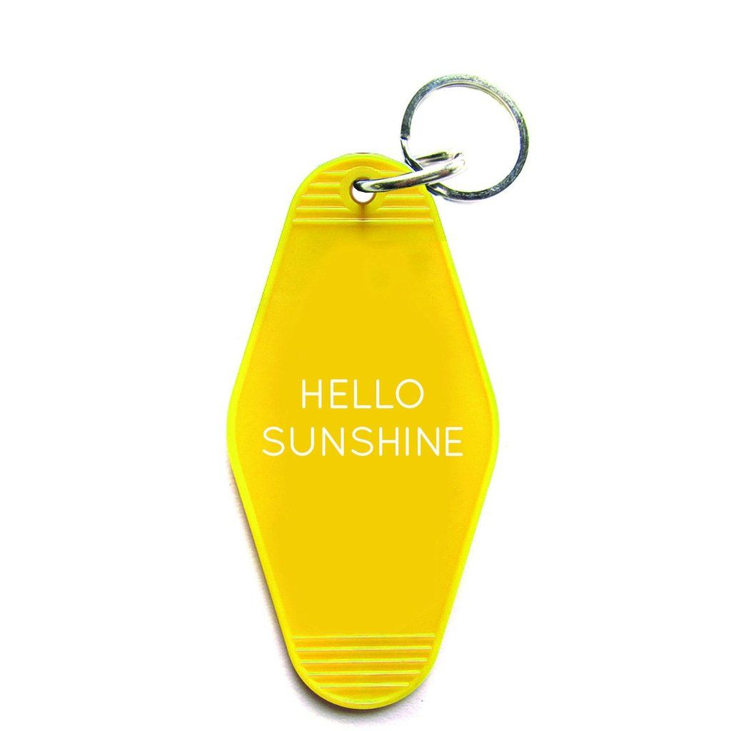 Hello Sunshine Key Tag With Images Key Tags Hello Sunshine