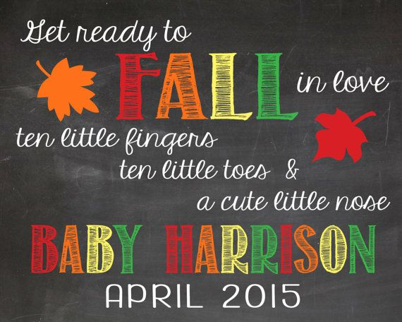 fall pregnancy announcement - thanksgiving