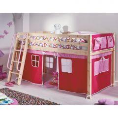 Lit Cabane Pour Les Petits Lit Cabane Surelevé Avec Habillage Tissu - Lit cabane pour garcon