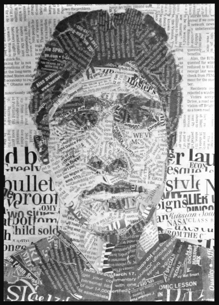 newspaper self portrait by cj2kxdeviantartcom on deviantart