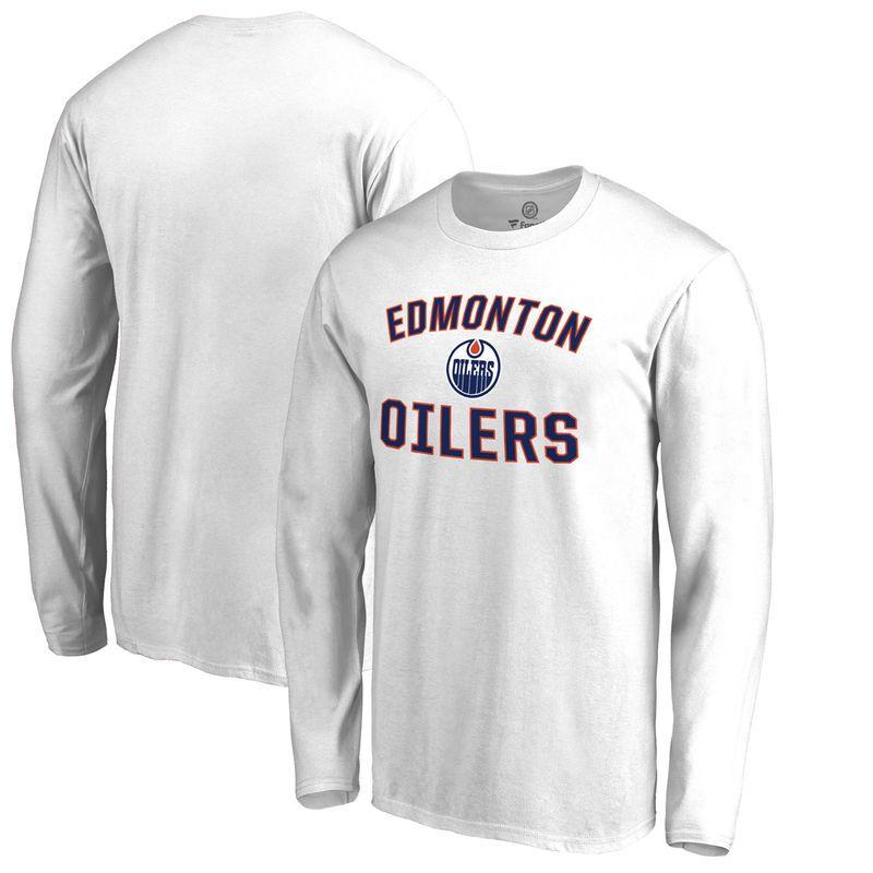1f36f3221f7 Edmonton Oilers Fanatics Branded Big & Tall Victory Arch Long Sleeve T-Shirt  - White