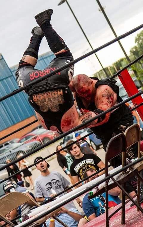 Bulldozer Matt Tremont slamming JD Horror at IWA Mid-South's