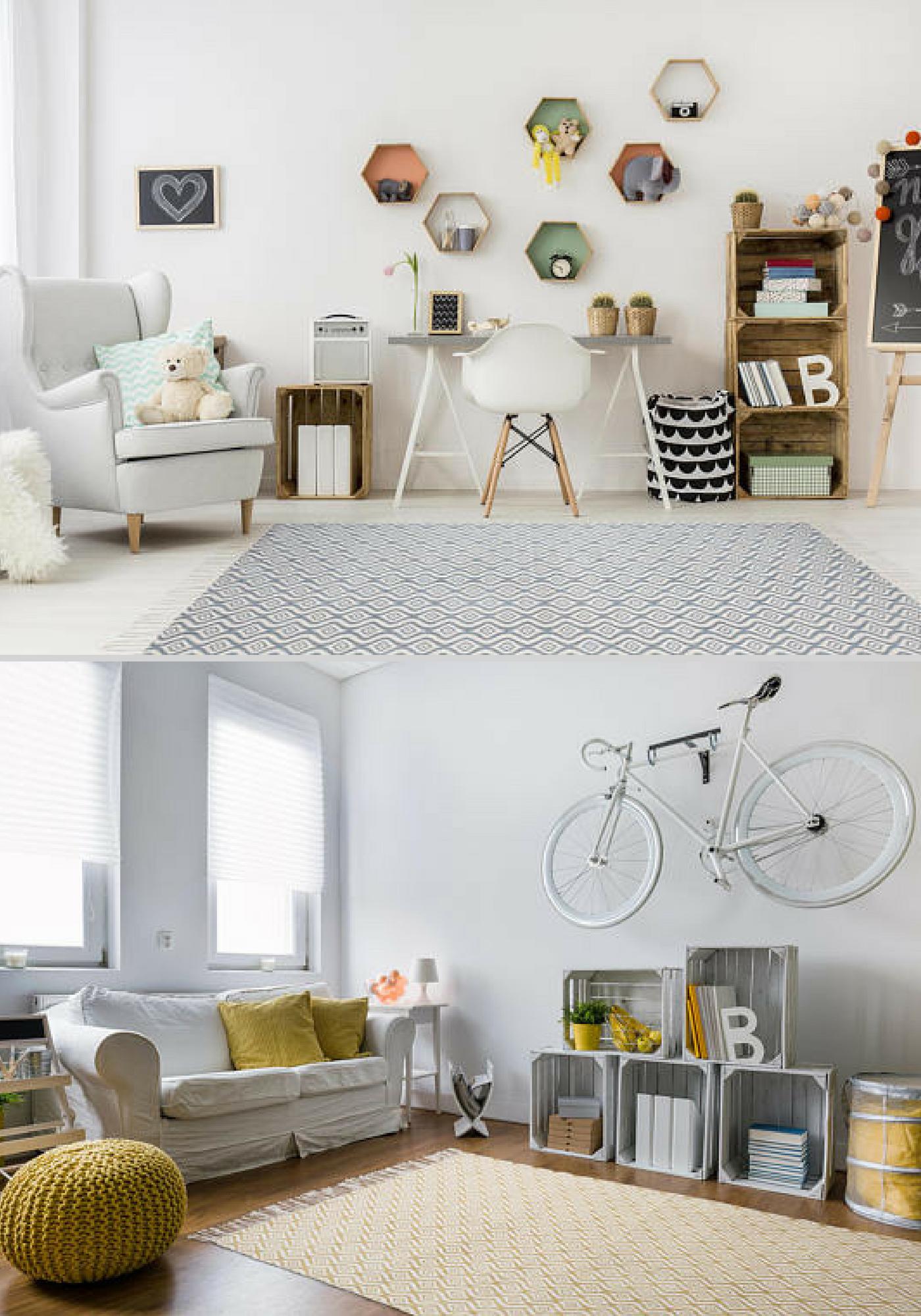 Cotton Carpets, Elegant Handmade Modern Living Room Rug Wave Design Home  Decor Ideas And Original
