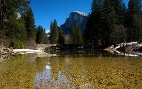река, мост, природа, пейзаж