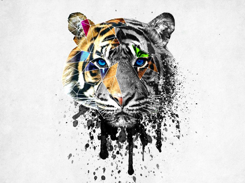 Stunning Geometric Tiger Head Tattoos Tattoos Pinterest Tiger