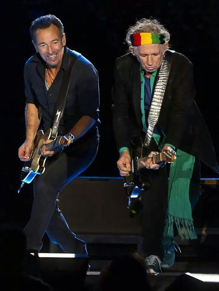 Keith Richards And Bruce Springsteen In Lisbon Portugal 14 On Fire