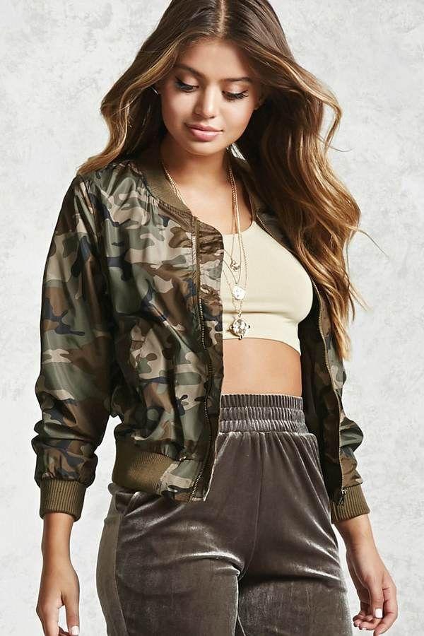 07c51e147aa1f FOREVER 21+ Camo Bomber Jacket | Fashion | Camo bomber jacket ...