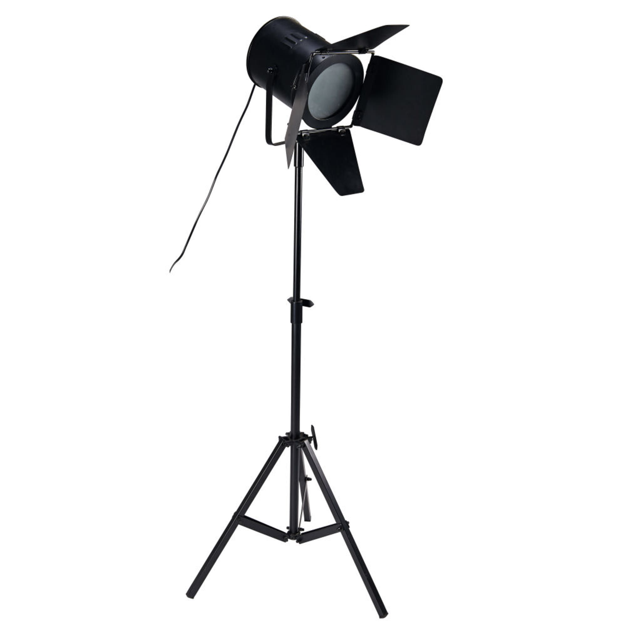 Black Metal Tripod Floor Lamp H180 Making Of Maisons du