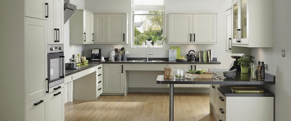 Elegant Burford Grey Fully Accessible Kitchen