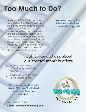 Flyer About My Virtual Assistant Service Submitted For The Brother