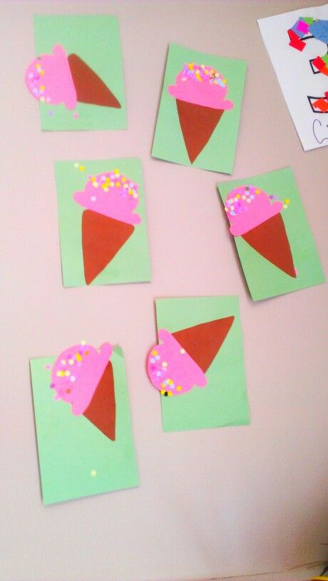 Easy Art And Craft Ice Cream Cone Fun Glue Scissors And