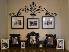 Therapy. Everyone needs some.: DIY Wrought Iron Picture Hanger with Upcycled Frames