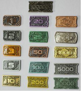 Futuristic Metal Coins - 1 CAP (10x)