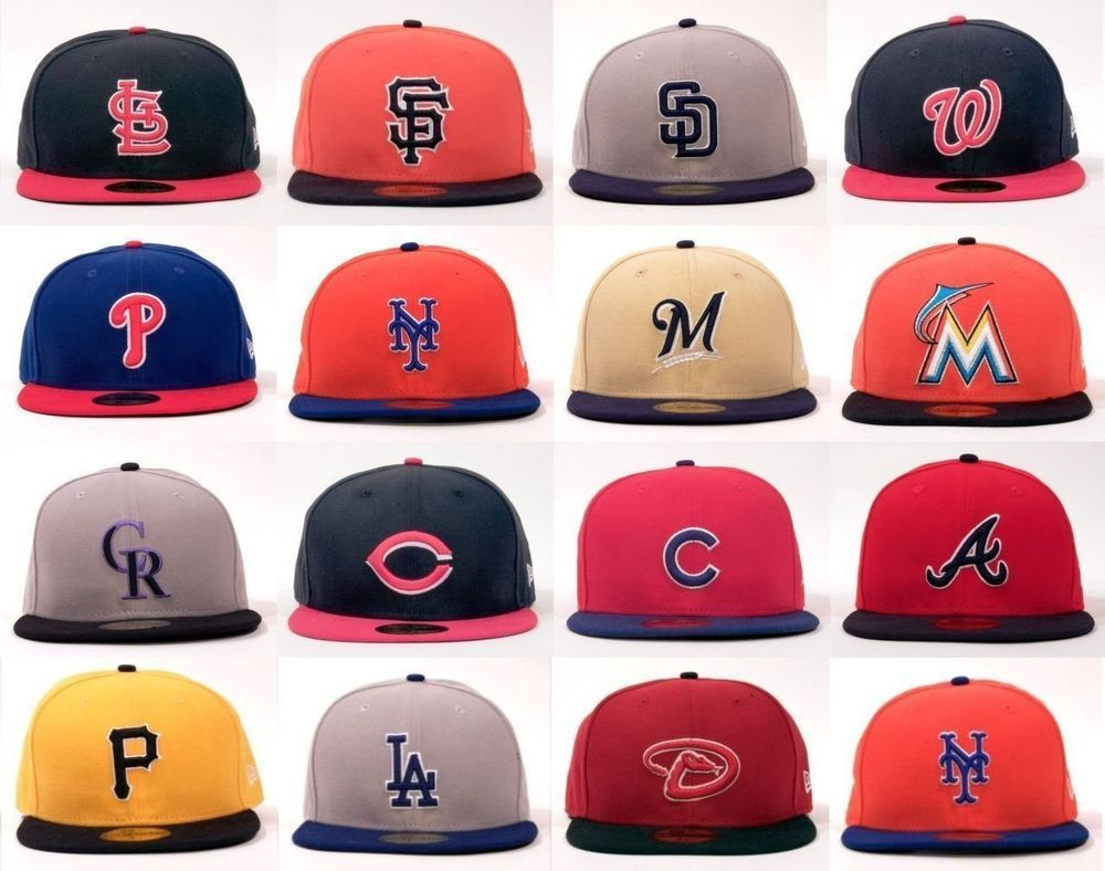 New Era 59fifty 2tone National League Mlb Baseball Hat Cap New Era 59fifty Baseball Hats Cap