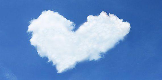 Flexible Fluorescent Light Cover Films Skylight Ceiling Office Medical Dental Sky Love - Heart Cloud