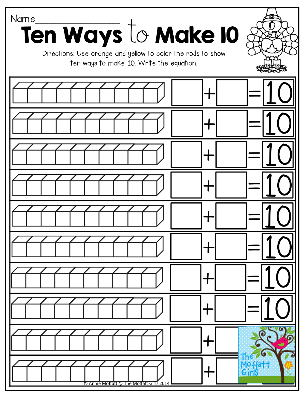 Decomposing numbers! TONS of hands-on resources to make learning more  effective!   First grade math [ 1325 x 1024 Pixel ]