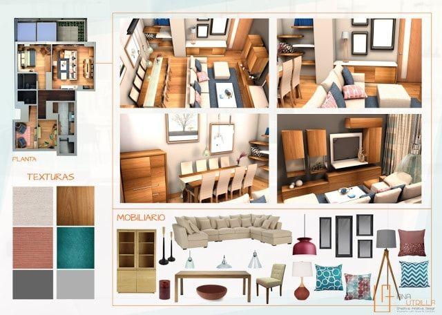 Proyecto dise o y decoraci n de interiores para Proyectos de diseno de interiores