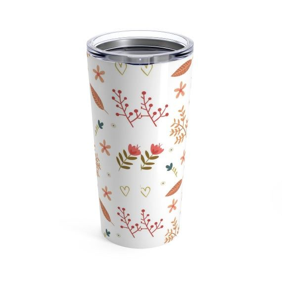 Photo of Bridesmaid tumbler,insulated tumbler,floral tumbler,20 oz tumbler,coffee tumbler,mountain mug,camp mug,large mug