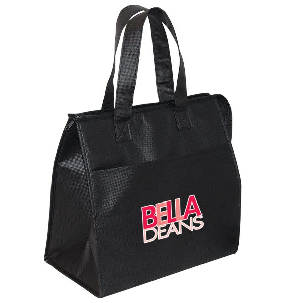 non woven insulated grocery tote custom printed reusable bag for