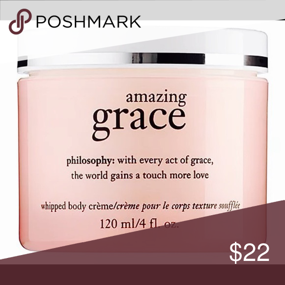 4oz Philosophy Amazing Grace Whipped Body Creme Brand new, unused and unopened. Was a part of a gift set. Philosophy Makeup