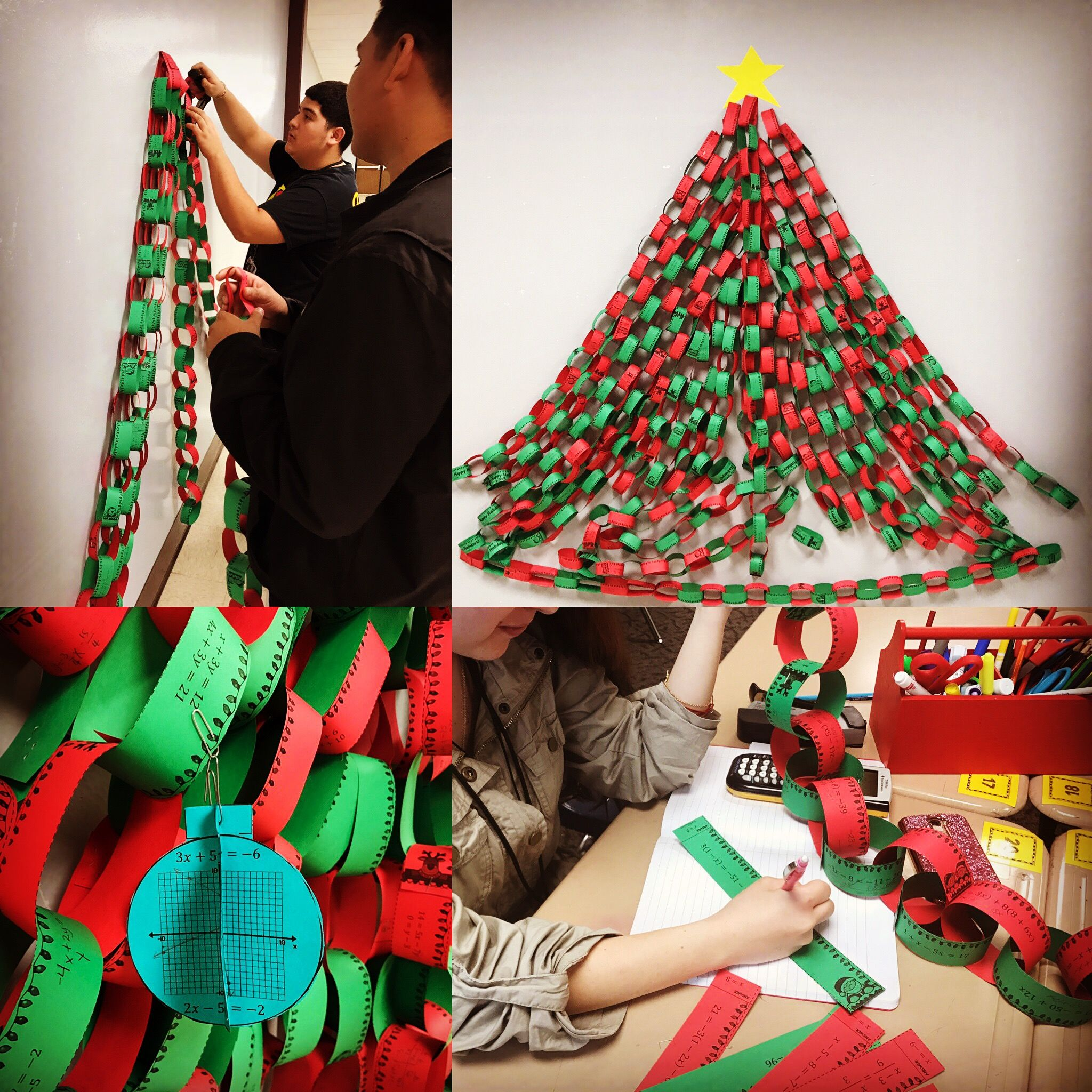 Christmas Algebra Solving Systems Of Equations 3d