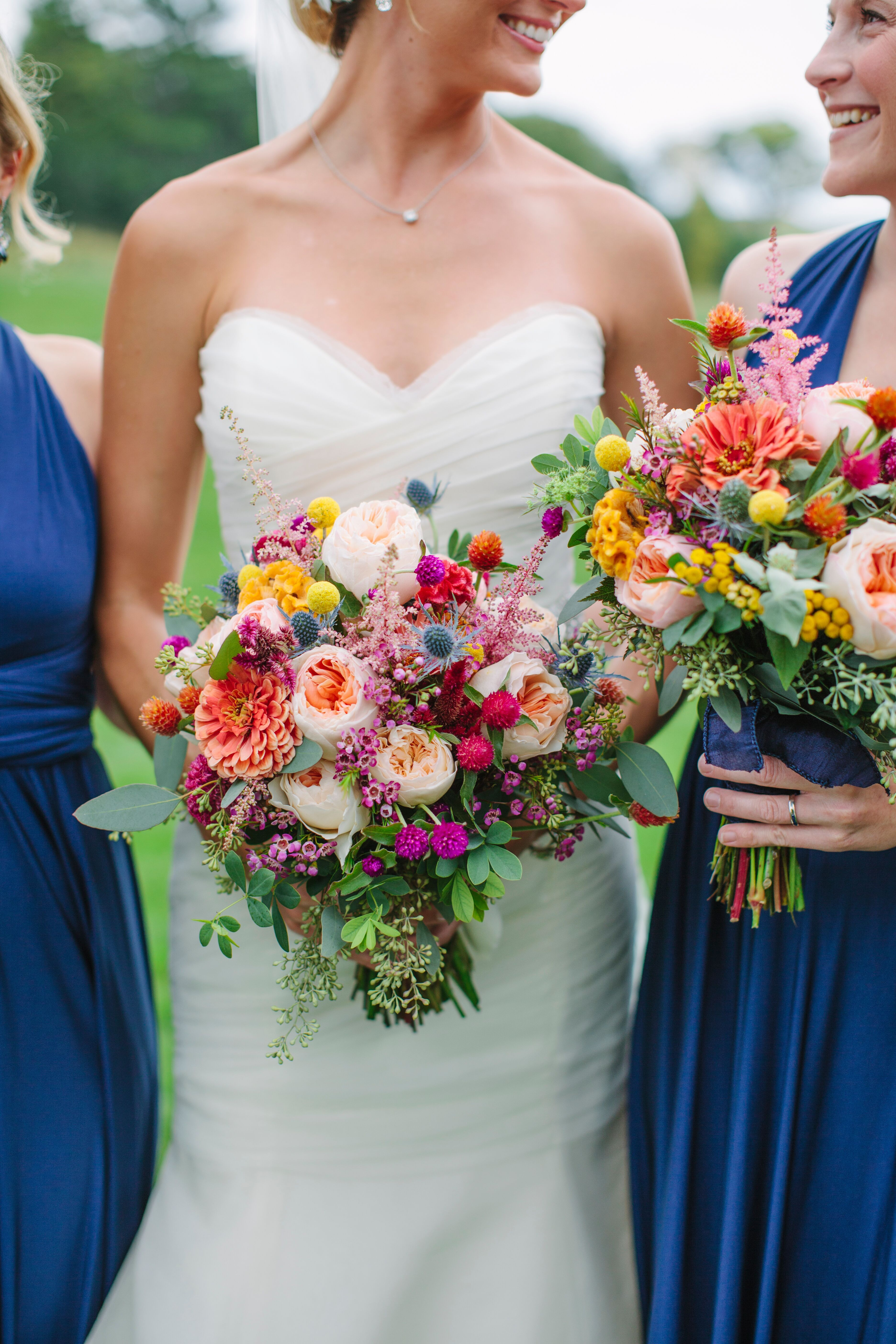 ColorfulYetRustic Wildflower Bouquets in 2020 Rustic