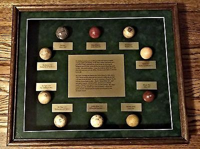 Details About Vintage Golf Ball Display The Evolution Of