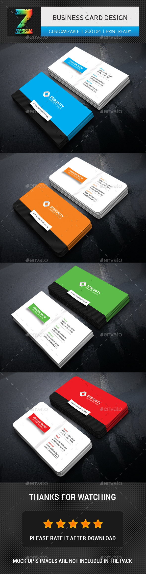 Business Card Design Template - Business Cards Print Template PSD ...