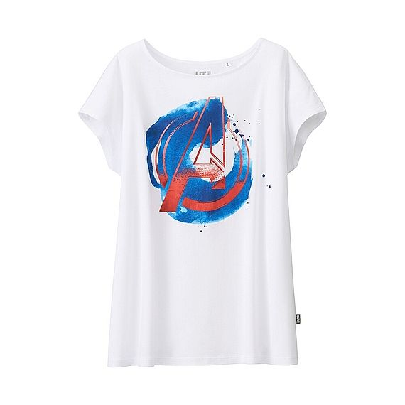 1755bd9a50441 WOMEN Marvel The Avengers Graphic Short Sleeve T-Shirt Uniqlo ...