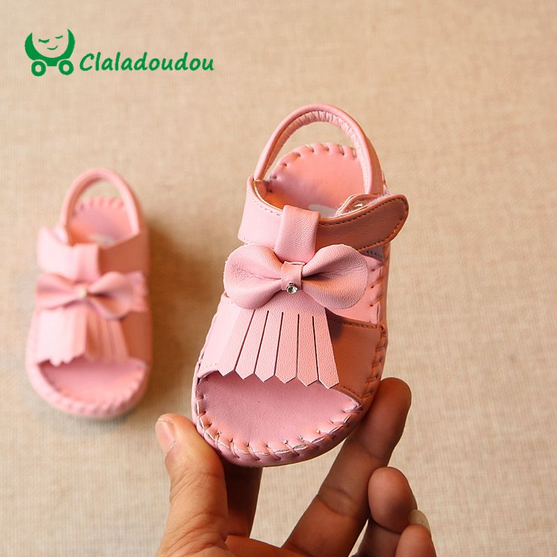 So Lovely New Arrival Pom Pom Baby Girl Crib Shoes Summer Sandals Newborn to 18M