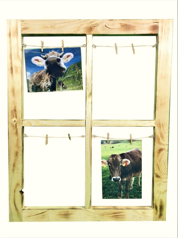 Holz Bilderrahmen Sprossenfenster Geflammt Einzigartiger