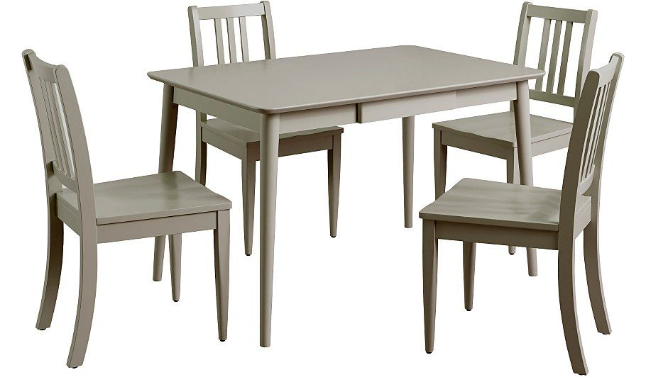 Buy Sadie Dining Table 4 Chairs Grey From Our Dining Tables Chairs Range Today From George At Asd Grey Dining Tables Dining Dining Table Chairs