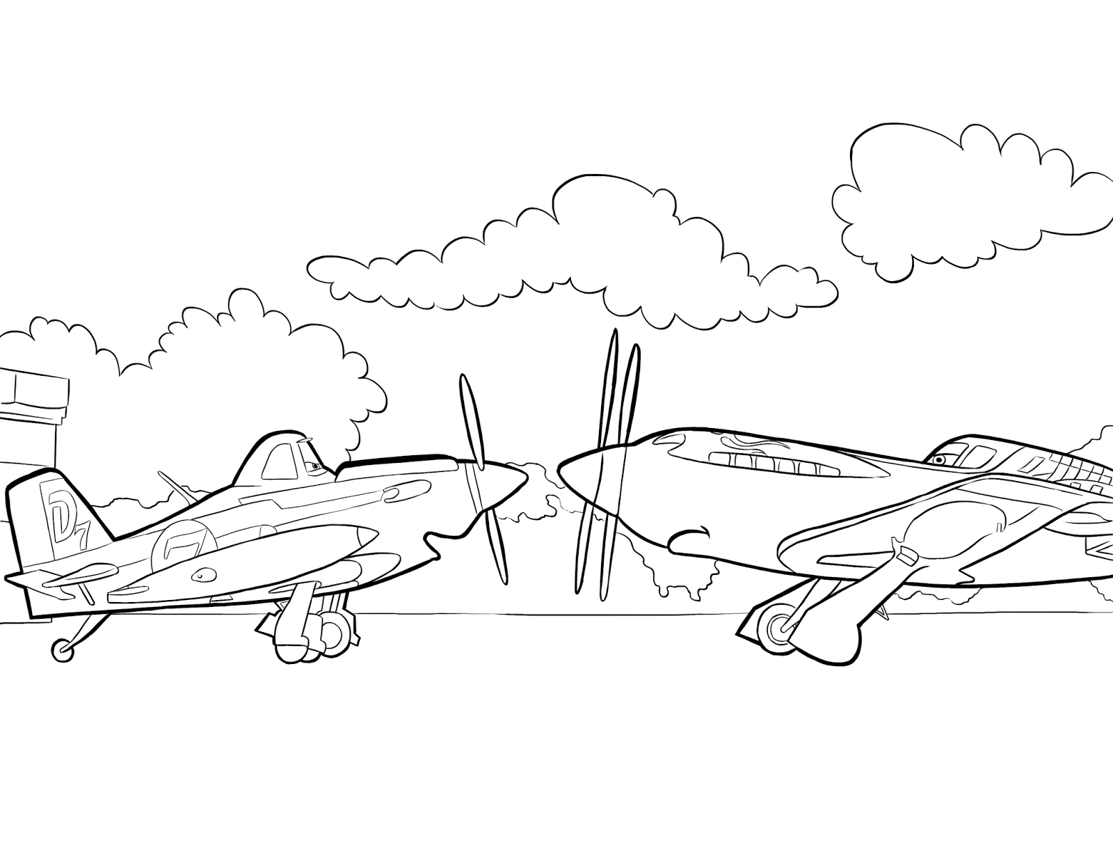 Disney Planes Ausmalbilder : Kolorowanki Z Bajki Samoloty Do Wydruku Pokoloruj Wiat