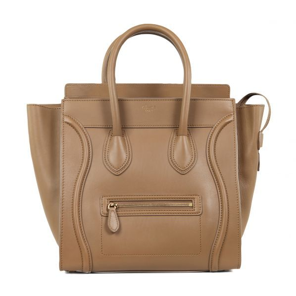 ★Fall 2012 Collection★CELINE Luggage Mini Camel Beige Tote Bag 1