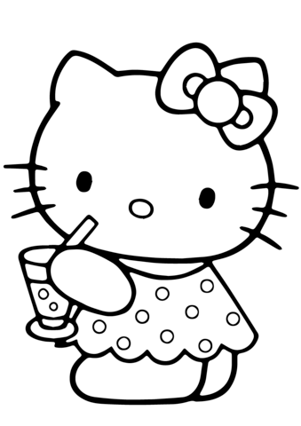 Hello Kitty Summer Coloring page | Hello Kitty | Pinterest | Hello ...