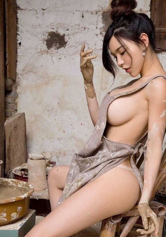 Naughty asian woman