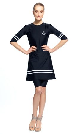 75b513a908 Maybe wrap skirt for more flexibility while swimming. Nautical love 2 Piece  Swimsuits