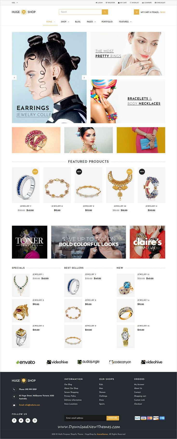Hugeshop multipurpose shopify theme template