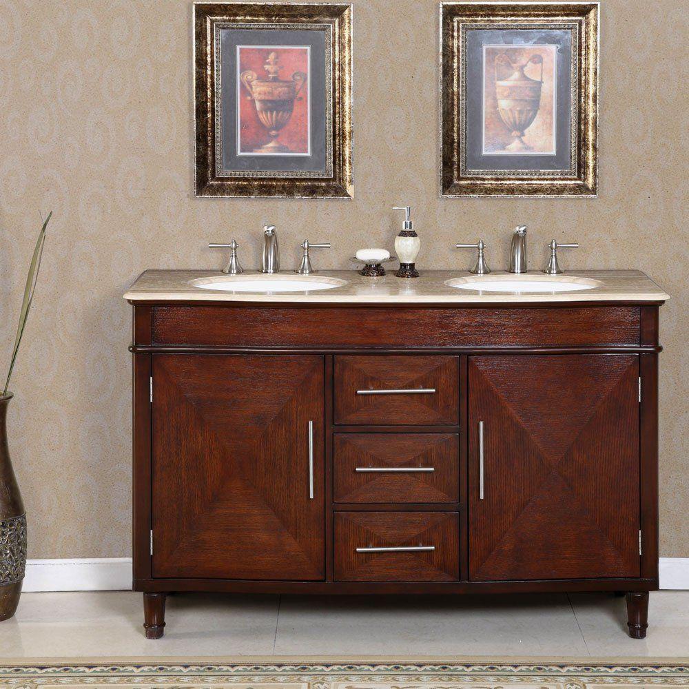 55 Bertali Double Bath Vanity Double Sink Vanity Bathroom Sink Vanity Double Sink Bathroom