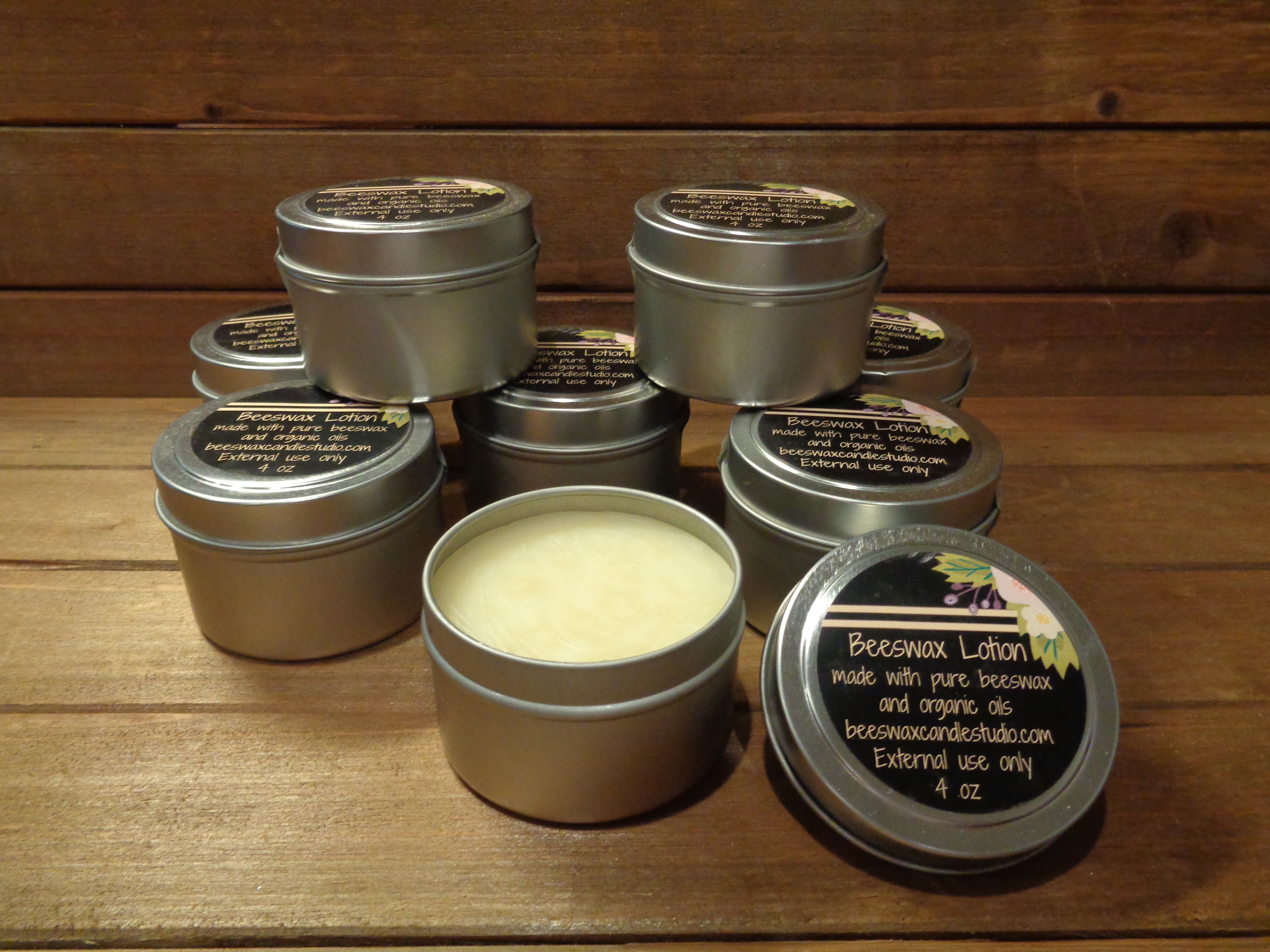 Pure beeswax skin repair lotion ~ Great for all skin types and skin problems.