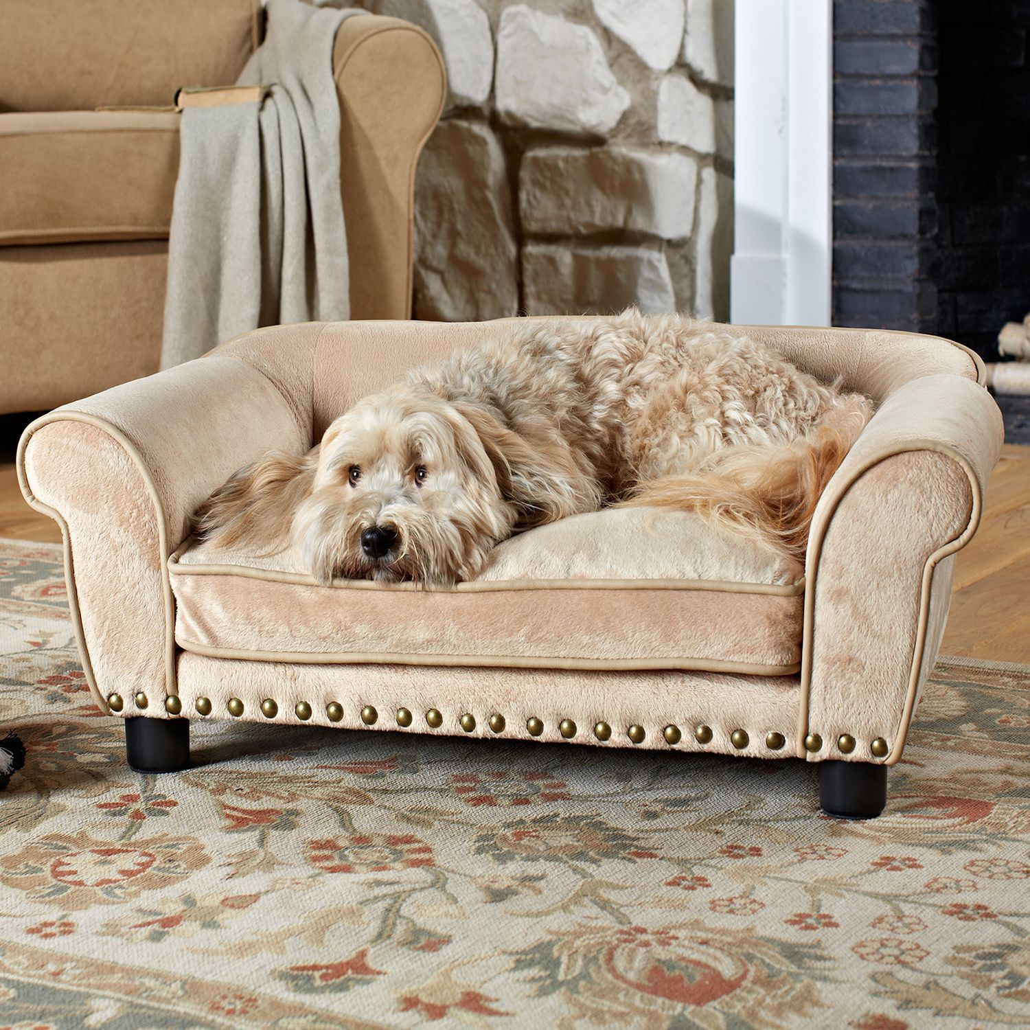 Enchanted Home Pet furniture eases your pet into a luxurious cushion that  engulfs them in complete