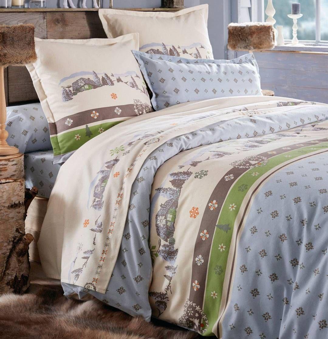 linge de lit flanelle ma bergerie - françoise saget | parure de lit