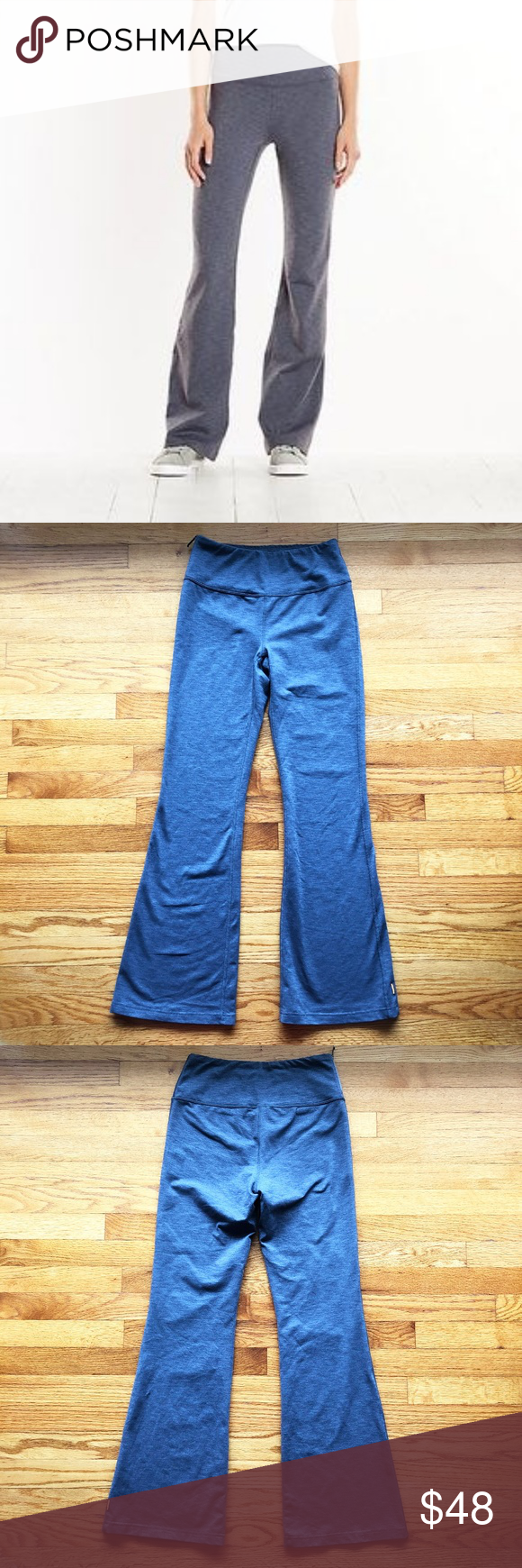 df5aa1e256f LUCY Strong is Beautiful Flare Pant Yoga Gray EUC Lucy Flare Yoga Pant in a  Silver