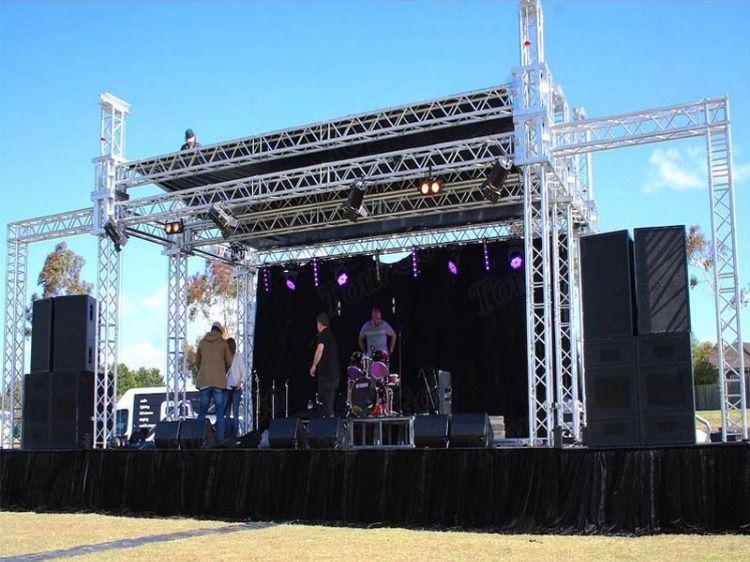 Outdoor Stage Truss Used For Singapore Show Outdoor Stage Lighting Truss Stage Lighting Design