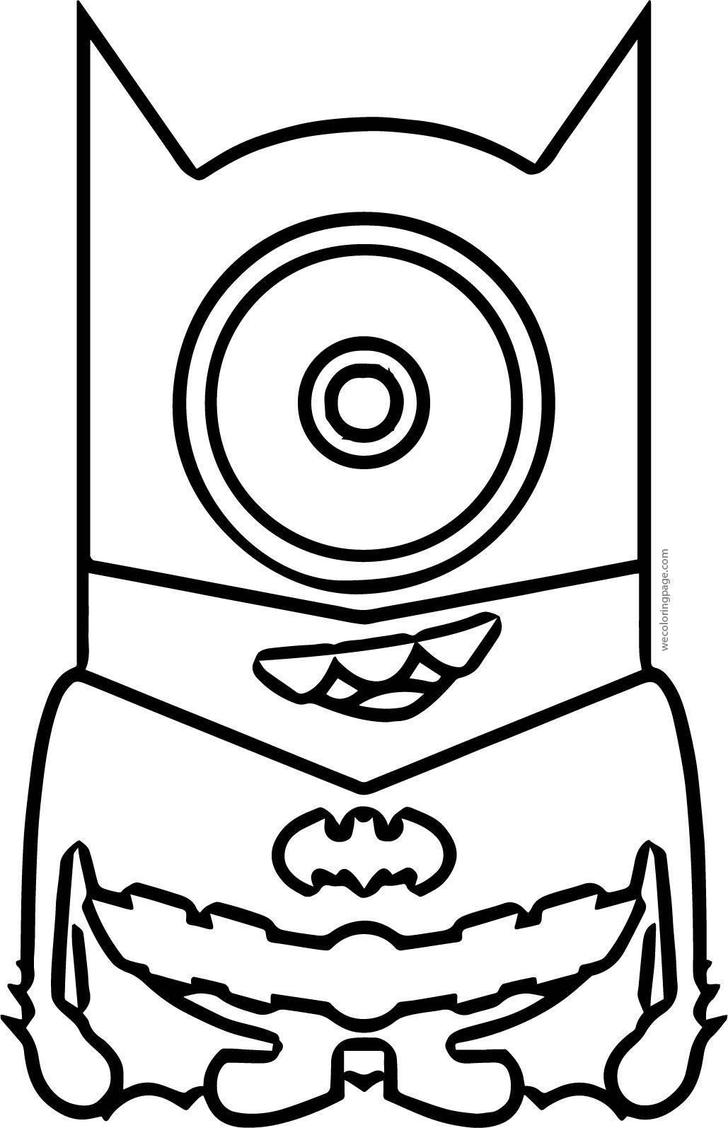 Funny Batman Minion Coloring Page Wecoloringpage Com Minion