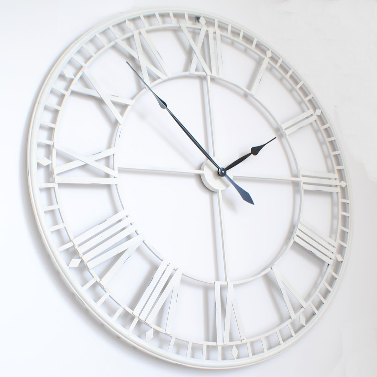 Kitchen Clock Inspo Large Roman Big Vintagewhite Skeleton Wall Clock 120cm 47 Diameter Large White Wall Clock Skeleton Wall Clock White Wall Clocks