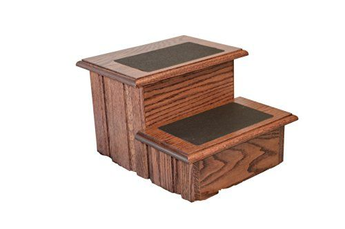 Best Rich Cherry Finished Solid Oak Step Stool With Non Slip 400 x 300