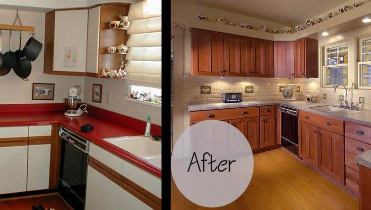 kitchen cabinet refacing before and after photos | cabinet refacing